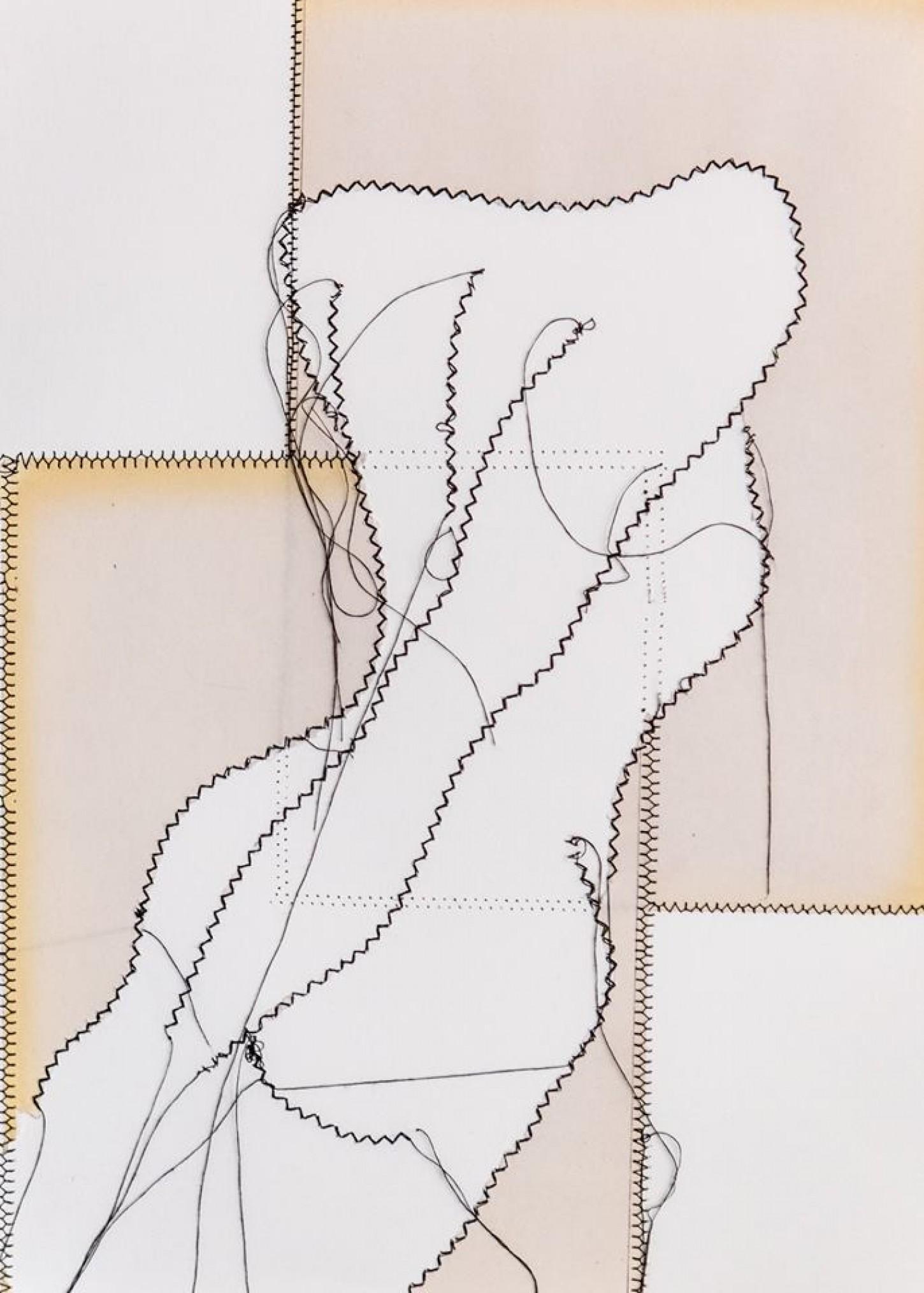 fil noir,papier sur canson 29.7x42 cm 2014