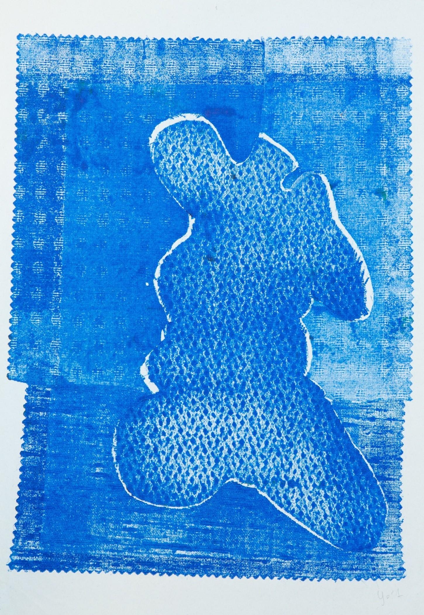 Gravure Impression tissus sur papier 2/2 21 x 29.7cm